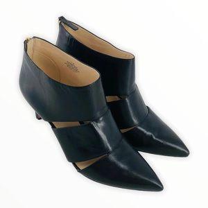 Nine West Women's 11 Black Emma Jean Leather Heels
